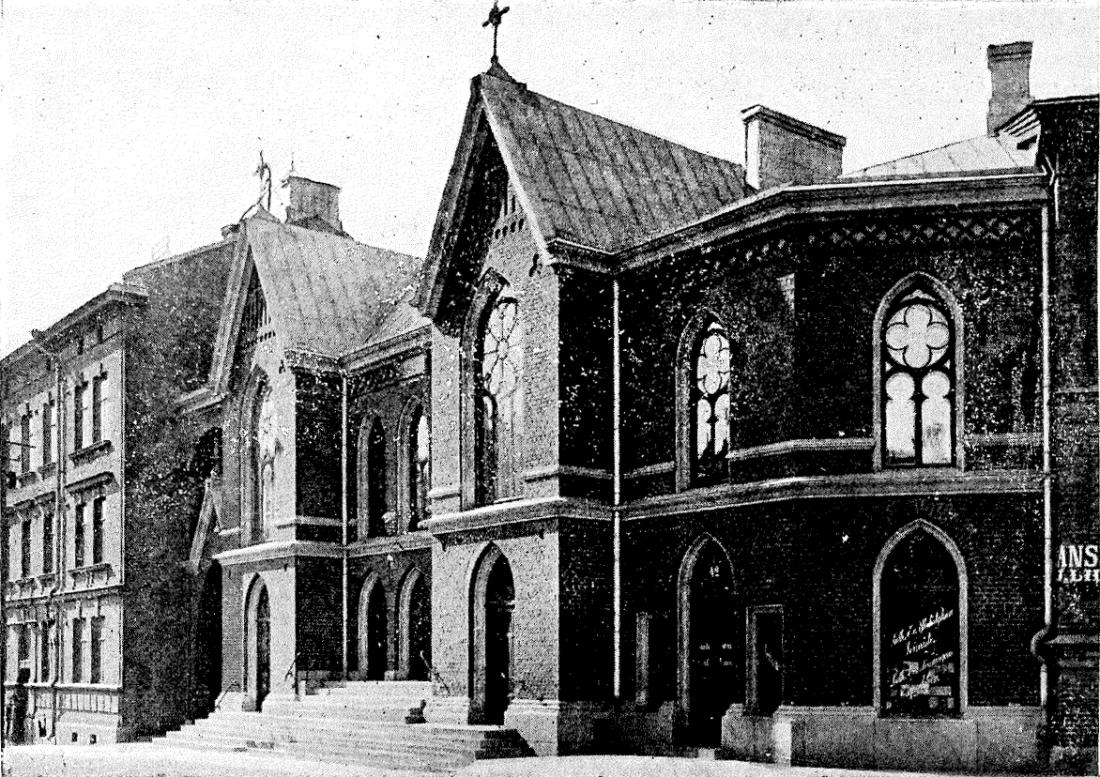 Fredrikinkadun rukoushuone, nykyinen Helsingin Luther-kirkko